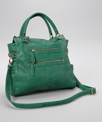 Mint Zipper Ondrea Tote