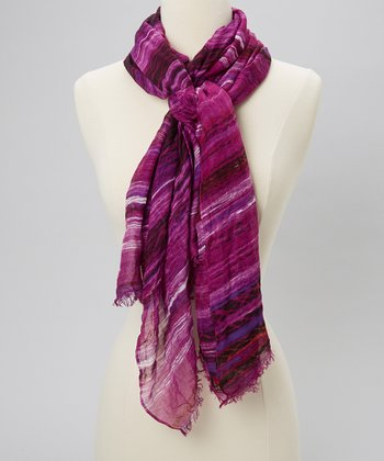 Purple Stripe Scarf