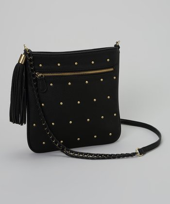 Black & Gold Stud Crossbody Bag