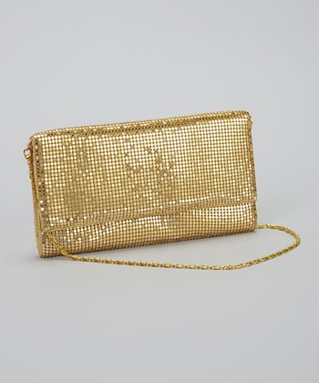Gold Metal Mesh Clutch