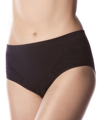 Black Leaf Shaper Mid-Rise Briefs - Women
