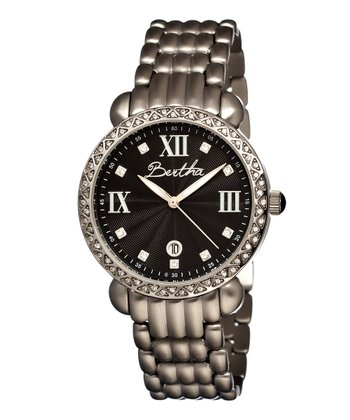 Silver & Black Ruth Watch
