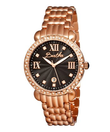 Rose Gold & Black Ruth Watch