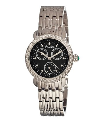 Silver & Black Daniella Watch