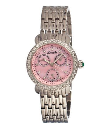 Silver & Pink Daniella Watch