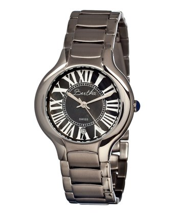 Silver & Black Maude Watch