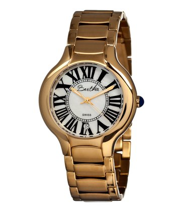 Gold & White Maude Watch