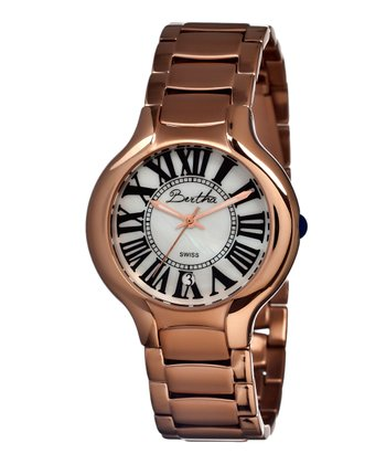 Rose Gold & White Maude Watch