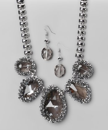 Black Diamond Housewives of Bev Earrings & Necklace