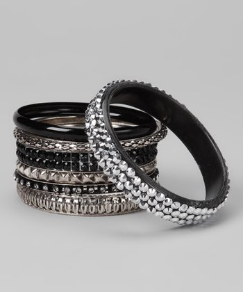 Black Sparkle Bangles Set