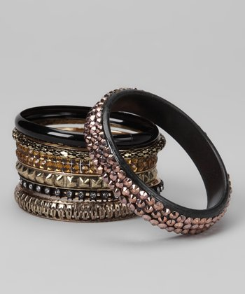 Gold Sparkle Bangles Set