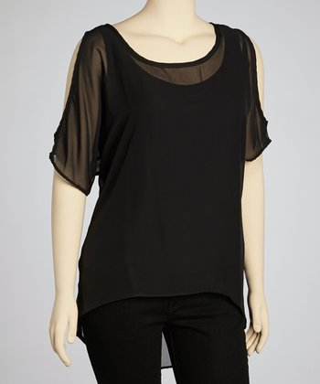 Black Cutout Tunic - Plus