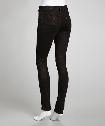 Black & Gold Skinny Jeans