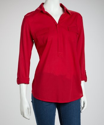 Red Hot Long-Sleeve Top