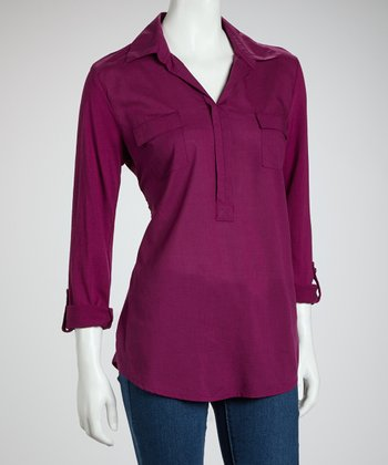 Scandal Violet Long-Sleeve Top
