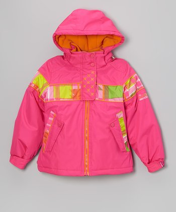 Pink & Yellow 3-in-1 Coat - Girls