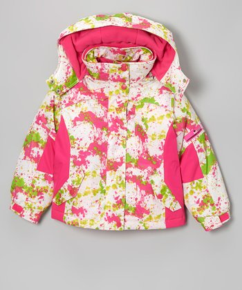Pink Splash 3-in-1 Coat - Girls
