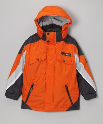 Orange & Gray 3-in-1 Coat - Boys
