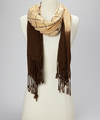 Brown Stripe Scarf
