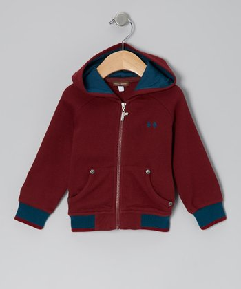 Maroon Weave Zip-Up Hoodie - Infant, Toddler & Boys