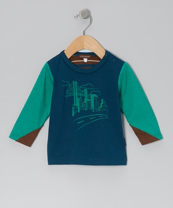 Navy & Green Skyline Tee - Infant, Toddler & Boys
