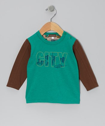 Green & Brown 'City' Tee - Infant, Toddler & Boys