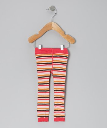 Persimmon Stripe Tights - Infant & Girls
