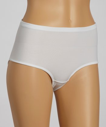 White Everyday Shaper High-Cut Shaper Briefs