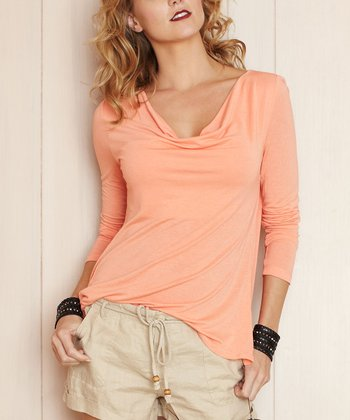 Peach Fostoria Top