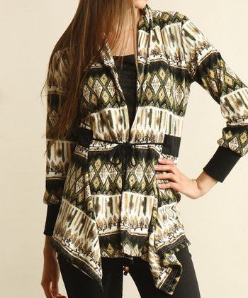 Green Tribal Cardigan