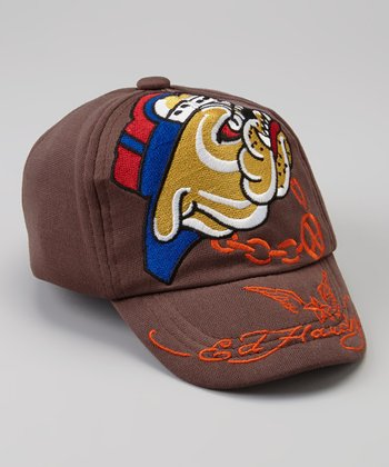 Brown Bulldog Baseball Cap