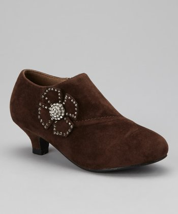 Brown Bow Holiday Bootie