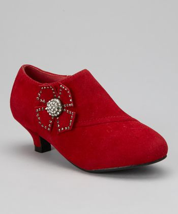 Red Bow Holiday Bootie
