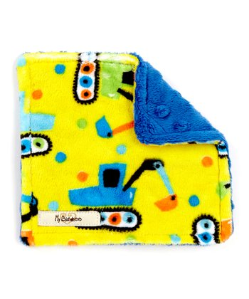 Electric Blue & Yellow Tractor Velour Crinkleez Lovey