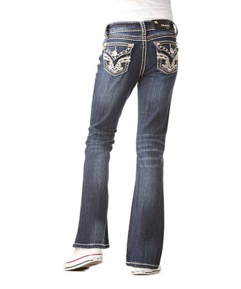 Dark Wash Gold Crest Bootcut Jeans