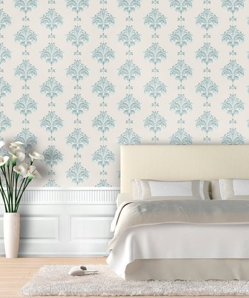Azure Ikat Wallpaper Decal