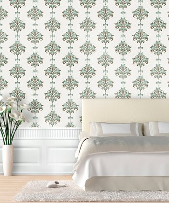 Thin Mint Ikat Wallpaper Decal