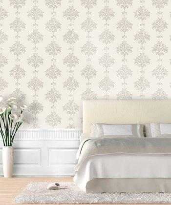 Neutral Ikat Wallpaper Decal