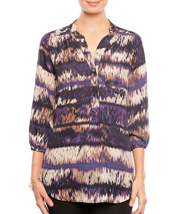 Petunia Ikat Amy Recycled Top