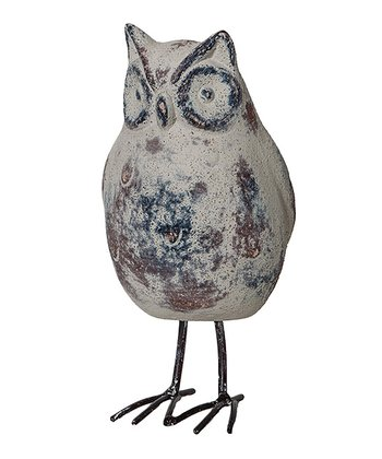 Gray 6.5'' Owl Figurine