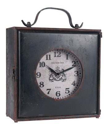 Rustic Square Desk Clock