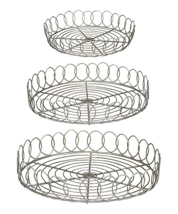 Wire Basket Tray Set
