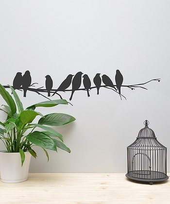 Black Birds on Branch Wall Decal