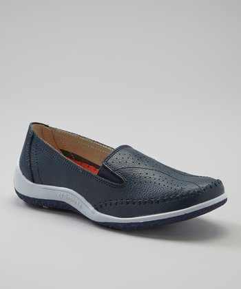 Navy Snoopy Slip-On Shoe