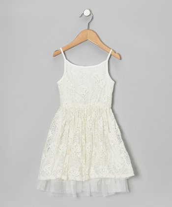 White Lace Dress - Toddler & Girls