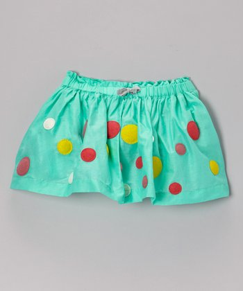 Opal Dot Swing Skirt - Girls