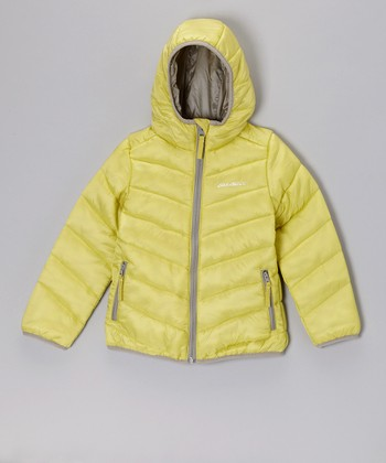 Lime Green Puffer Jacket - Toddler & Girls