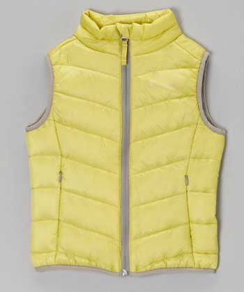 Lime Green Puffer Vest - Toddler & Girls