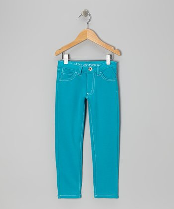 Turquoise Skinny Jeans - Toddler & Girls