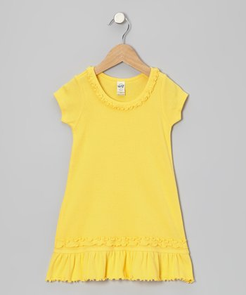 Yellow Ruffle Dress - Toddler & Girls